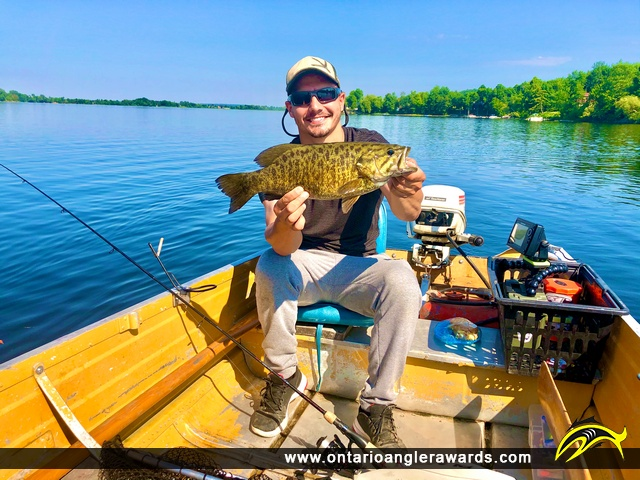 "17"" Smallmouth Bass caught on Muskrat Lake"