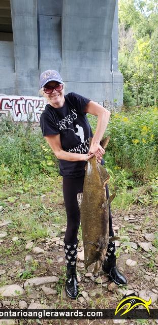 "40"" Chinook Salmon caught on Bronte River"