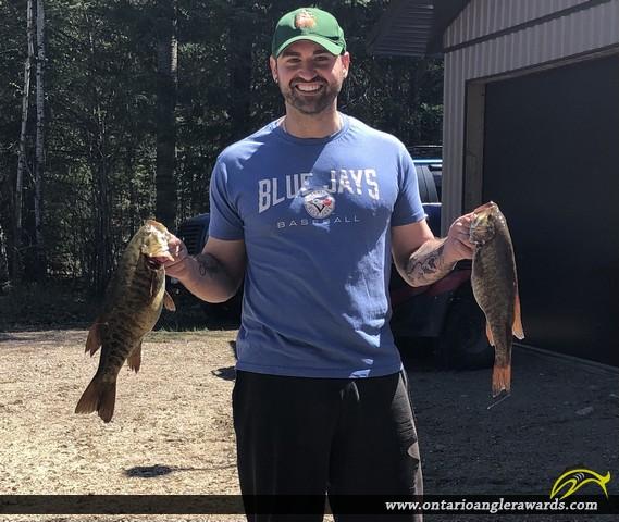 """18"""" Smallmouth Bass caught on Graham lake"""