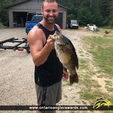 """20"""" Smallmouth Bass caught on Graham Lake"""