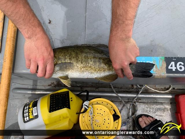 "17.38"" Smallmouth Bass caught on Emerald Lake"