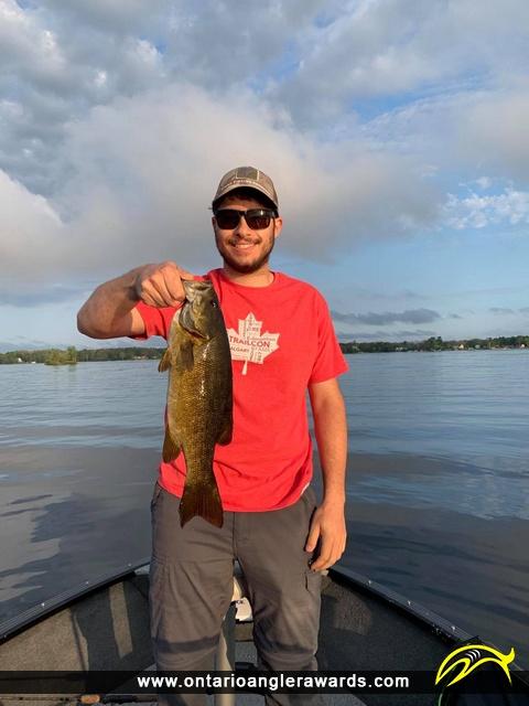 "17.25"" Smallmouth Bass caught on Georgian Bay"