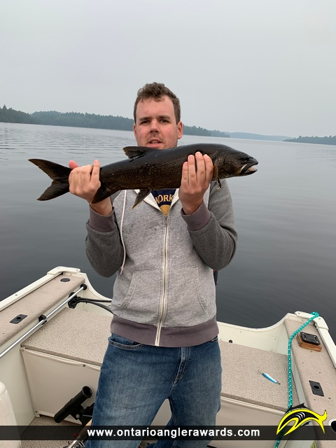 """27"""" Lake Trout caught on Lake K"""