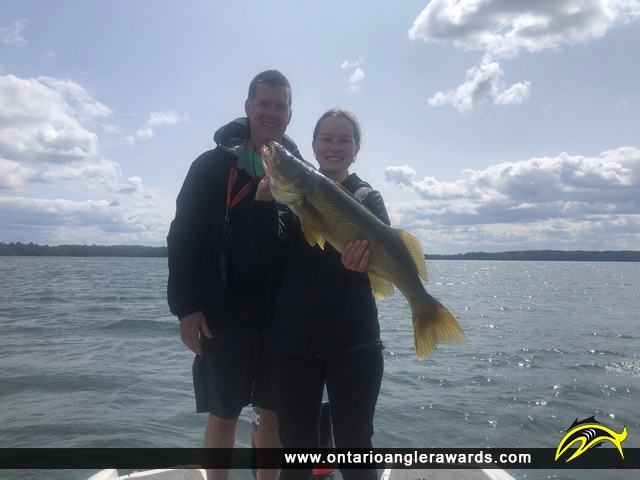 """28.5"""" Walleye caught on Lake of the Woods (Whitefish Bay)"""