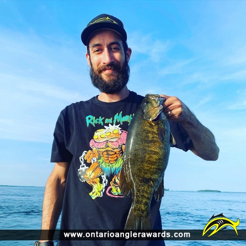 """18"""" Smallmouth Bass caught on St. Lawrence River"""