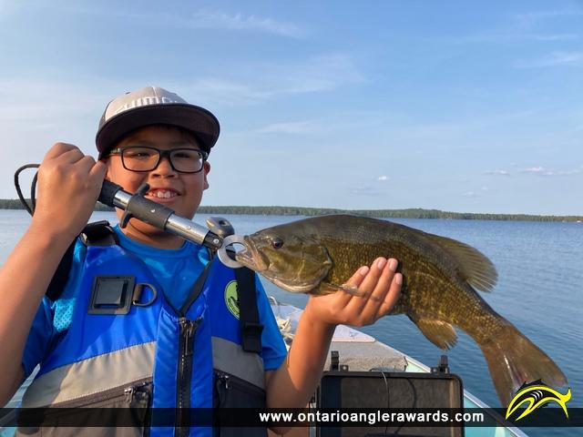 "17.5"" Smallmouth Bass caught on Blue Lake"