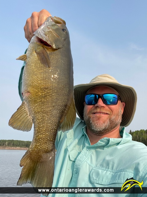 """17.00"""" Smallmouth Bass caught on English River"""