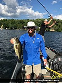 """18.75"""" Largemouth Bass caught on Pigeon Lake"""