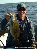 """19"""" Smallmouth Bass caught on Lake of the Woods"""