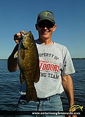 """20"""" Smallmouth Bass caught on Lake of the Woods"""