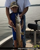"""33"""" Northern Pike caught on Lake of the Woods"""