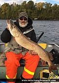 "44"" Northern Pike caught on Kukuas Lake"