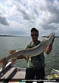 """45"""" Muskie caught on Lake Scugog"""