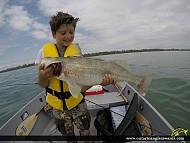 "29"" Walleye caught on Lake Erie"
