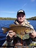 """17.5"""" Smallmouth Bass caught on Malachi Lake"""