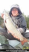 """18.02"""" Brook/Speckled Trout caught on Quirts Lake"""