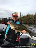 """21"""" Largemouth Bass caught on Lake of the Woods"""