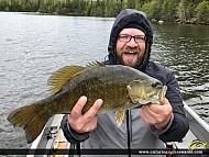 """19.25"""" Smallmouth Bass caught on Edward Lake"""