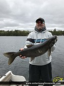 "33.5"" Lake Trout caught on Dryberry Lake"