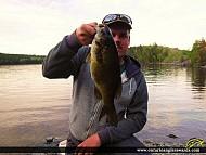 "18"" Smallmouth Bass caught on Rainy Lake"
