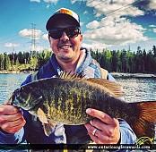 "18.5"" Smallmouth Bass caught on Winnipeg River"
