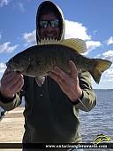 "20"" Smallmouth Bass caught on Lac Seul"