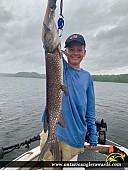 "34"" Northern Pike caught on Anjigami Lake"