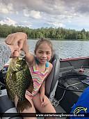 "13"" Black Crappie caught on Dollars Lake"