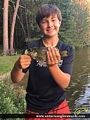 """11.5"""" Rock Bass caught on Granite Lake"""