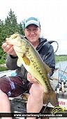 """18.17"""" Largemouth Bass caught on Wasi Lake"""