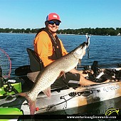 "45"" Muskie caught on Lake Erie"