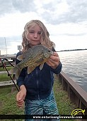 "9.75"" Pumpkinseed caught on Rondeau Bay"