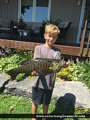 "22.5"" Smallmouth Bass caught on Sturgeon Lake"
