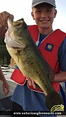 "21"" Largemouth Bass caught on Buckhorn Lake"