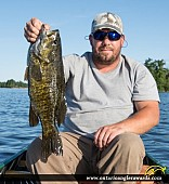 "21"" Smallmouth Bass caught on Lake Nipissing"