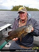 "20"" Smallmouth Bass caught on Minnitaki Lake"
