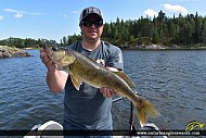 "26"" Walleye caught on Winnipeg River"