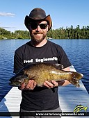 "20"" Smallmouth Bass caught on Keys Lake"