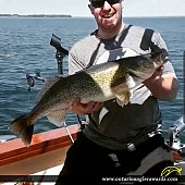 "30.25"" Walleye caught on Lake Erie"