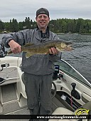 "25.5"" Walleye caught on Kendall Inlet"