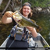 "28.00"" Largemouth Bass caught on Big Hawk Lake"