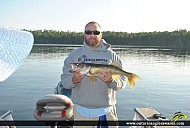 "26.5"" Walleye caught on Perrault Lake"