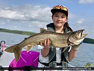 "30"" Lake Trout caught on Paguchi Lake"