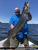 "46"" Northern Pike caught on Lake of the Woods"