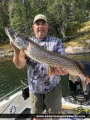 "36"" Northern Pike caught on Lake of the Woods"