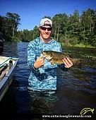 """19.5"""" Smallmouth Bass caught on Lake Mazinaw"""