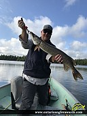 "32"" Northern Pike caught on Wawang Lake"