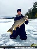 """34"""" Lake Trout caught on Kakagi Lake"""