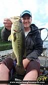"""19.00"""" Largemouth Bass caught on Wasi Lake"""