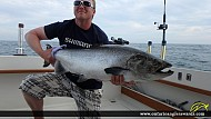 """43.00"""" Chinook Salmon caught on Lake Ontario"""